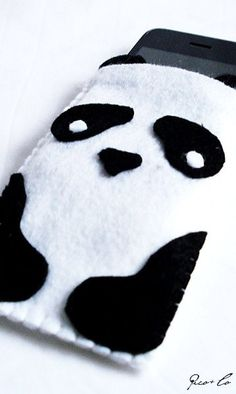 Felt panda iPhone bag. If only this were practical.