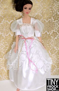 Barbie Metallic Snowflake Wedding Dress
