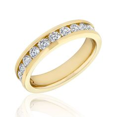 Reeds Jewelers REEDS.com Diamond Anniversary Band Yellow Gold 1ctw