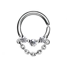 Septum Ring, Messing, Piercings, Bracelets, Silver, Jewelry, Crystals, Chain, Peircings