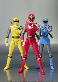 Bandai Tamashii Nations S.H. Figuarts Wind Ranger Power Rangers Ninja Storm Action Figure, Blue/Yellow:Amazon:Toys & Games