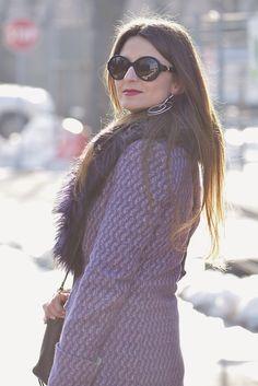 The pink carpet fashion blog by Lucy Diegoli: Cappotto viola e la neve