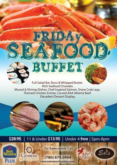 Seafood buffet every Friday - nuff said!