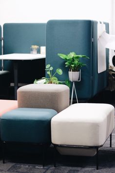 Allermuir at #CDW2017  Meet Mozaik, a new product range we are launching. Mozaik has been designed by Mark Gabbertas and consists of modular soft seating and storage.