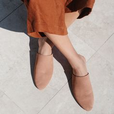 ST. AGNI Paris Mule - Clay Suede