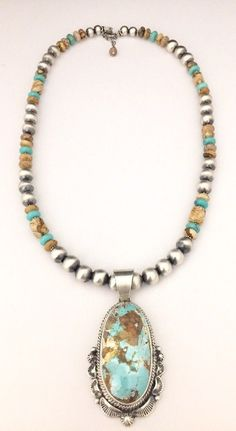 Turquoise Jewelry Necklace Native American Sterling Silver Navajo Handmade Boulder Turquoise Necklace by margarita Turquoise Jewelry, Boho Jewelry, Jewelery, Jewelry Necklaces, Beaded Necklace, Jewelry Watches, Long Necklaces, Diamond Necklaces, Craft Jewelry