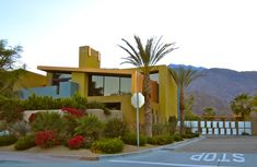 Not every house in Palm Springs is triumph of mid-century modernism. Description from onblueundercanvas.com. I searched for this on bing.com/images
