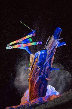 Skiing under the stars by steve lloyd photography #skiutah
