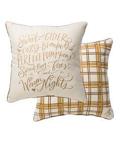 Loving this 'Sweet Cider' Throw Pillow on #zulily! #zulilyfinds