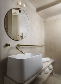 Willow & Stone Inspirational favourite. Modern cottage utilising unlacquered brass pipework for taps.