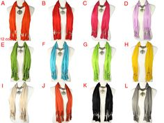 12 colors available, Cross Pendant Necklace Jewelry Scarf New Style, NL-1804