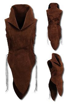 Elf, darkbrown - Armour for Women - Leather Armour - Armour