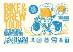 Bicycle Benefits Hosts Bike and Brew Tour in Missoula