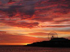 Copacabana Congratulations Rio! ♥ Rio2016 Roda Rio 2016 Roda Gigante praia de Copacabana beach Rio de Janeiro sunrise nascer-do-sol amanhecer