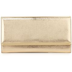 Jimmy Choo Maia Metallic Leather Clutch Bag (16,305 MXN) ❤ liked on Polyvore featuring bags, handbags, clutches, gold, brown handbags, jimmy choo handbags, genuine leather handbags, handbags clutches and genuine leather purse
