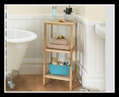 This beautiful walnut shelving unit features top quality workmanship and provides 3 additional shelves of vital storage space in the bathroom. Simple home assembly required. Size x x Bathroom Essentials, Simple House, Beautiful Bathrooms, Bathroom Accessories, Storage Spaces, Shelves, Furniture, Home Decor, Daisy Chain