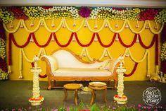 52 Ideas For Wedding Ceremony Script Modern Marriage Decoration, Wedding Stage Decorations, Engagement Decorations, Backdrop Decorations, Flower Decorations, Chennai, Wedding Ceremony Script, Wedding Planner Book, Wedding Mandap