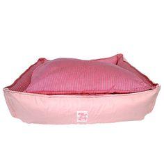 Cama de Couro Versátil Rosa Listrada São Pet - MeuAmigoPet.com.br #petshop #cachorro #cão #meuamigopet