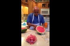 So This Guy is About to Blow Your Mind With How Fast He Can Slice and Dice a Whole Watermelon