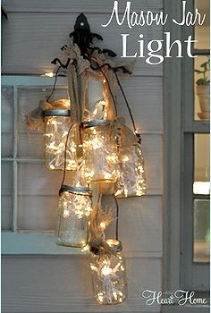 diy mason jar light, electrical lighting, outdoor living, repurposing upcycling, I needed just a little more light on the screen porch and t...