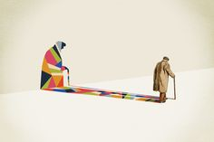 Walking Shadow Series by Jason Ratliff  This is how I see sometimes old people.