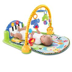 be8b3f83e Genuine Fisher Price Baby Rattles Toys Multifunctional Infant Play Baby  Piano Educational Toys Super Soft Bed