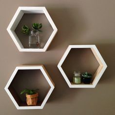 Pine Hex shelf