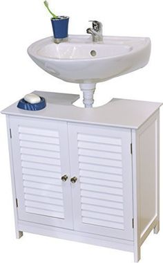 Special Offers - EVIDECO 9900307 Bath Under Sink Storage Vanity Cabinet Florence Louvre 23.6 H x 23.6 L White - In stock & Free Shipping. You can save more money! Check It (November 24 2016 at 09:08PM) >> http://bathroomvanitiesusa.net/evideco-9900307-bath-under-sink-storage-vanity-cabinet-florence-louvre-23-6-h-x-23-6-l-white/
