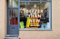 Buy Less Clothes, by Patagonia