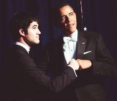 Darren with Obama