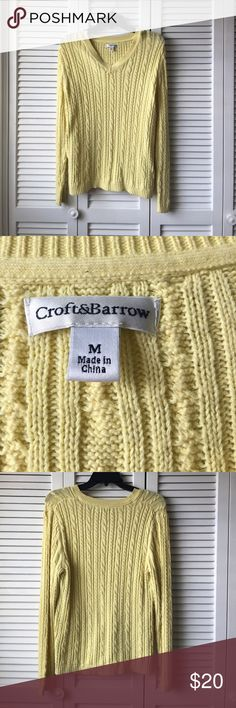 Craft &I Barrow Sweater Lightly worn and in perfect condition. 100% cotton croft & barrow Sweaters