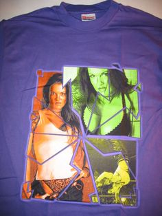 WWE Diva Lita Hot Purple Signature T-Shirt Vintage | eBay