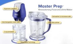 Now that you have your new Ninja Food Processor you might be wondering what all of the parts are for, and more importantly did you get all of them with your order. Thankfully, there are not that many parts to a Ninja food processor to keep track off and they're all pretty easy to explain. Ninja Food Processor, Food Processor Recipes, Ninja Blender Reviews, Prepping, Dishwasher, Food And Drink, Water Bottle, City Living, Drinks