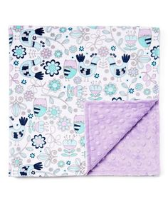 Lolly Gags 28 x 28 Purple & White Floral Stroller Blanket | zulily