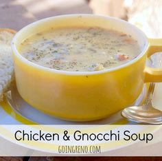 Chicken & Gnoochi soup is going to be your favorite soup. Ever. Don't say I didn't warn you!