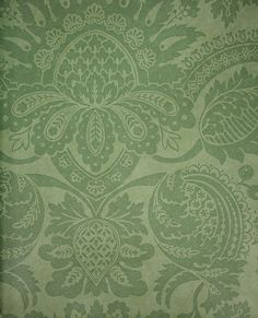 Pomegranate Damask Wallpaper A classical design damask wallpaper in a green