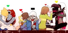 UNDERTALE | Asriel and Chara | MettatonEX and MettatonNEO | Sans and Ketchup | Undyne and Alphys | Frisk and Flowey | Ships