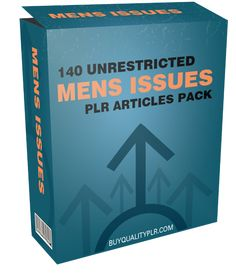 140 Unrestricted Mens Issues PLR Articles Pack - http://www.buyqualityplr.com/plr-store/140-unrestricted-mens-issues-plr-articles-pack/.  #MensIssues #MensHealth #MensHealthIssues #MensHealthTips #MensSkinCare 140 Unrestricted Mens Issues PLR Articles Pack In this PLR Content Pack You'll get 140 Unrestricted Mens Issues Articles with Private Label Rights to help you dominate the Mens Issues market which is a highly profitable and....