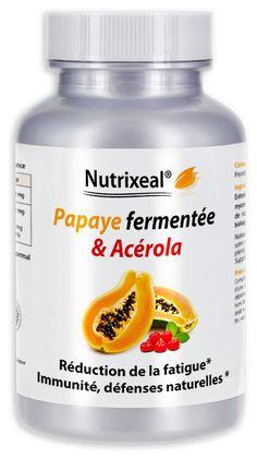 Papaye fermentée haute qualité Nutrixeal , non OGM, garantie sans pesticides. Défenses naturelles, immunité. Complément alimentaire fabriqué en France.