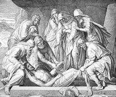 Bilder der Bibel - Die Grablegung - Julius Schnorr von Carolsfeld