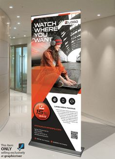 like the use of large picture and shapes. Pull Up Banner Design, Pop Up Banner, Roll Up Design, Graphic Design Flyer, Graphic Design Inspiration, Flyer Design, Display Design, Trade Show Booth Design, Standee Design