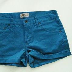 "NWT WeZC denim shorts Very sporty and beautiful deep sea blue color.  ""Roxanne"" tight fit, regular waist, thigh length, zip fly with pockets. Wezc Shorts Jean Shorts"