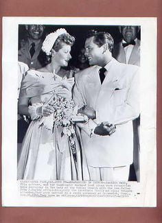 Lucy & Desi Renewing their Wedding Vows - 1949