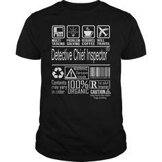 Detective chief inspector job title – multitasking shirt