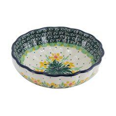 Polish Pottery 4.5'' Fluted Dessert Dish Handmade Boleslawiec Stoneware Pattern 023-daffy