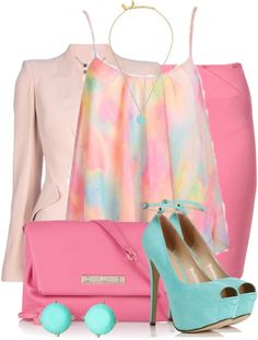 """""""Pink Business Set"""" by elenh2005 on Polyvore"""