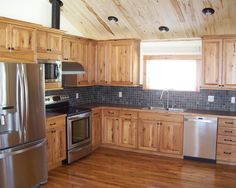 Beautiful Rustic Kitchen Cabinets Are Beautiful Additions For Any Kitchen, Such As Rustic  Hickory Kitchen Cabinets