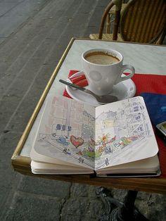 Paris Sketching by trumpetvine, via Flickr
