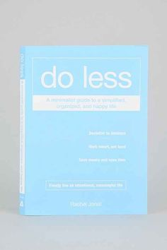Do Less By Rachel Jonat - Assorted One