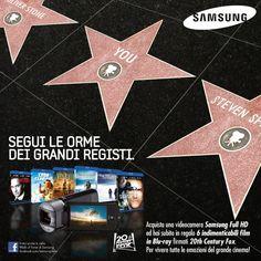 Samsung  - 2011 Walk of Fame - I Grandi Registi Facebook initiative and BTL communication material #Dandelio #dieciannidiidee